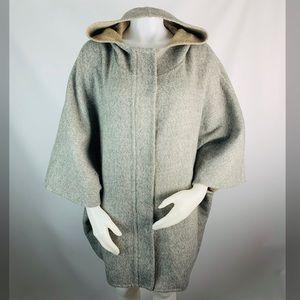 Eileen Fisher Baby Alpaca Hooded Poncho Coat